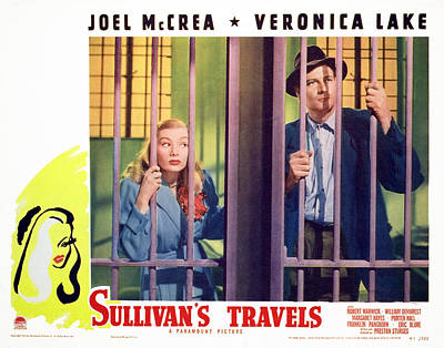 1940s Movies Photograph - Sullivans Travels, Veronica Lake, Joel by Everett