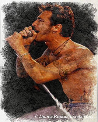 Digital Art - Sully Erna Singing by Diana Riukas