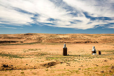 Grain Elevator Photograph - Sulphur Grain Elevators by Todd Klassy