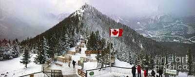 Photograph - Sulphur Mountain In Banff National Park In The Canadian Rocky Mountains by Akshay Thaker 'PhotOvation'