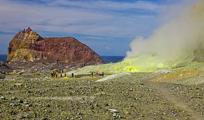 Photograph - Sulphur On Whakaari White Island Volcano by Venetia Featherstone-Witty