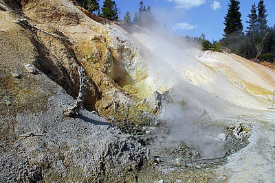 Gas Photograph - Sulphur Works - Lassen Volcanic National Park by Christine Till