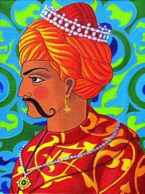 Rajasthan Painting - Sultan by Jane Tattersfield