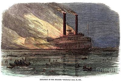 Sultana Explosion, 1865 Art Print