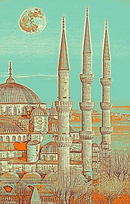 Painting - Sultanahmet, Istanbul Turkey 3c by Celestial Images