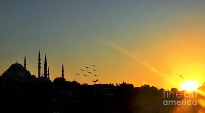 Photograph - Sultanahmet Sunset by Andrew Dinh