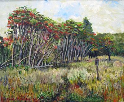 Painting - Sumac Fall by Art Nomad Sandra  Hansen