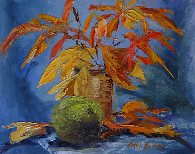 Painting - Sumac, Sassafras, And Hedge Apple by Carol Berning