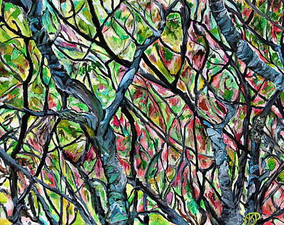 Painting - Sumac Stained Glass by Ajp