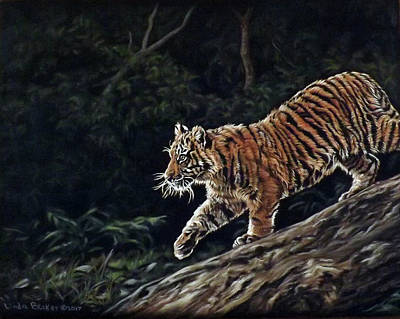 Pastel - Sumatran Cub by Linda Becker