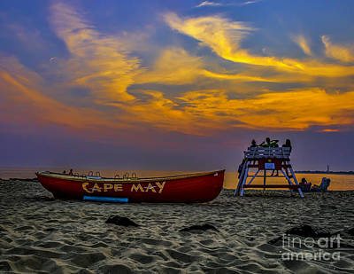 Summer Sunset In Cape May Nj Art Print by Nick Zelinsky