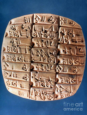 Photograph - Sumer Tablet Of Accounts by Granger