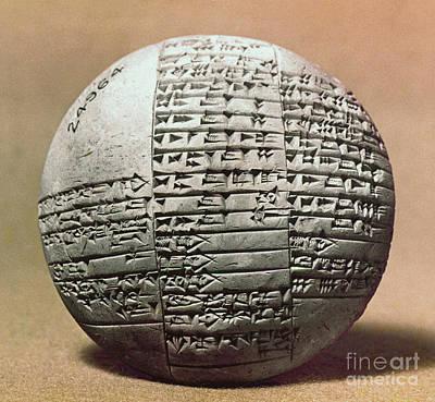 Photograph - Sumerian Cuneiform by Granger