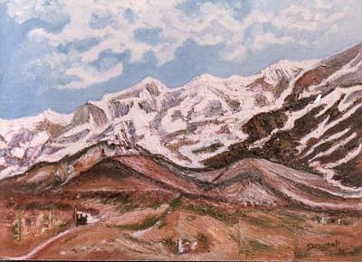 Painting - Sumeru Mountain by Anand Swaroop Manchiraju