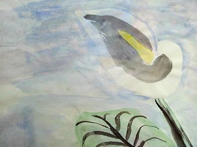 Wall Art - Painting - Sumi-e Calla Lily  by Helen Krummenacker
