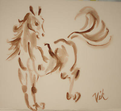 Painting - Sumi Horse by Lyn Vic