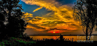 Photograph - Summer Sunset Over The Delaware River by Nick Zelinsky