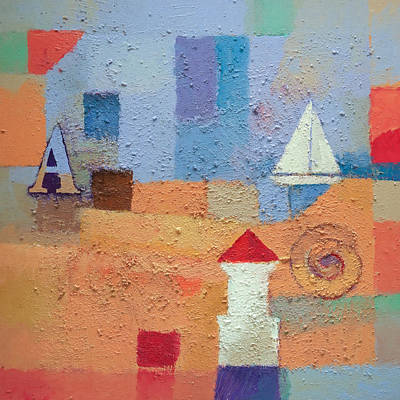 Abstract Seascape Painting - Summer A by Lutz Baar