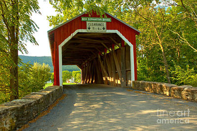 Photograph - Summer Afternoon At The New Germantown Covered Bridge by Adam Jewell