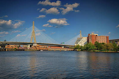 Photograph - Summer Afternoon At Zakim Bridge by Rick Berk