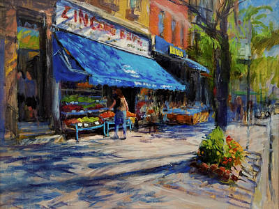 Painting - Summer Afternoon, Columbus Avenue by Peter Salwen