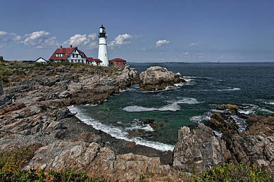 Photograph - Summer Afternoon, Portland Headlight by Gary Shepard