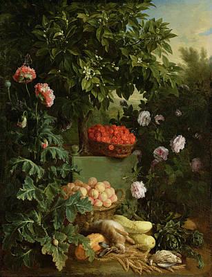 Harvest Time Painting - Summer by Alexandre-Francois Desportes