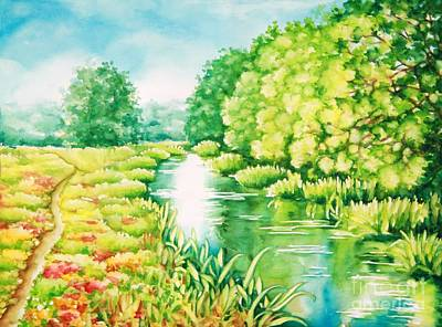 Painting - Summer Along The Creek by Inese Poga