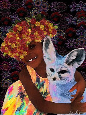 Digital Art - Summer And The Fox by Iowan Stone-Flowers