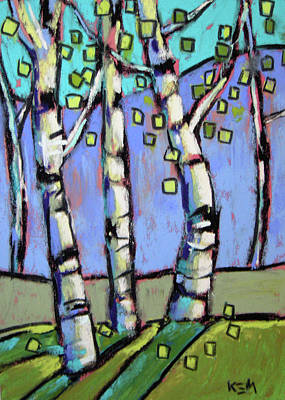 Painting - Summer Aspens by Karen Margulis