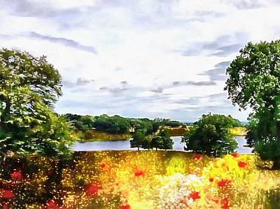 Photograph - Summer At An English Lakeside by Dorothy Berry-Lound