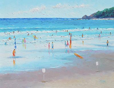New South Wales Painting - Summer At Byron Bay by Jan Matson
