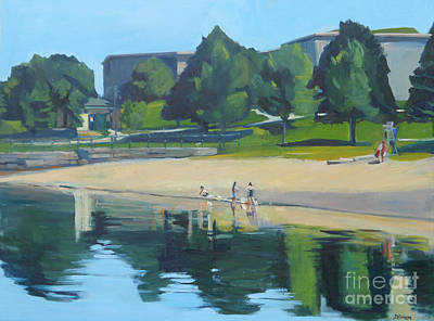 Massachussetts Painting - Summer At Castle Island by Deb Putnam