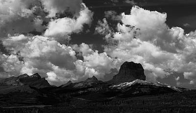 Photograph - Summer At Chief Mountain In Black And White by Tracey Vivar