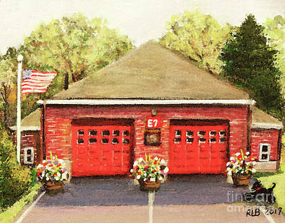 Painting - Summer At E7 Fire Station by Rita Brown