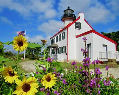 Photograph - Summer At East Point Light by Nancy Patterson