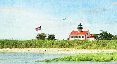 Photograph - Summer At East Point Lighthouse by Debra Fedchin