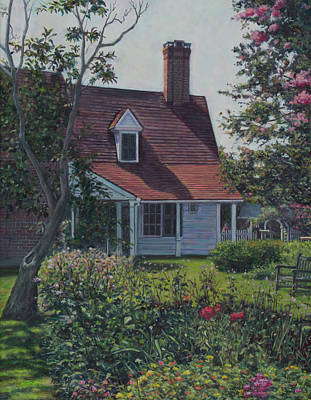 Painting - Summer At Sotterley by David P Zippi