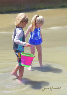 Painting - Summer At The Beach by Jane Girardot