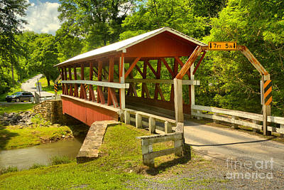 Photograph - Summer At The Colvin Covered Bridge by Adam Jewell