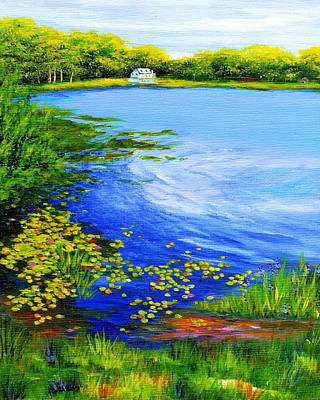 Summer At The Lake Art Print