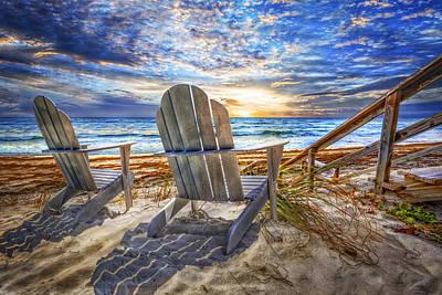 Summer At The Shore Art Print by Debra and Dave Vanderlaan