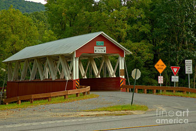 Photograph - Summer At The St. Mary Covered Bridge by Adam Jewell