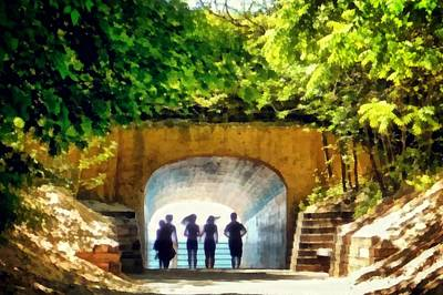 Digital Art - Summer At Tunnel Park by Michelle Calkins