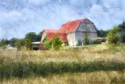 Digital Art - Summer Barn by Francesa Miller