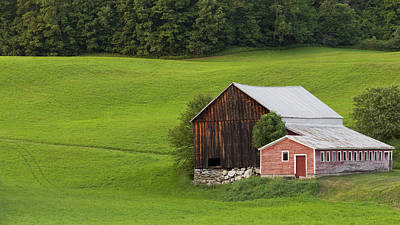 Photograph - Summer Barns by Alan L Graham