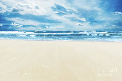 Photograph - Summer Beach And Sea Under Sunny Blue Sky by Michal Bednarek