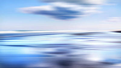 Digital Art - Summer Beach Blues by Bill Wakeley