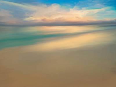 Summer Beach Day  Art Print by Anthony Fishburne