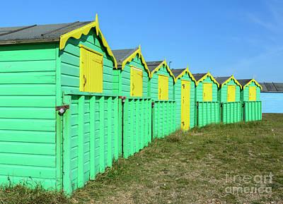 Beach Photograph - Summer Beach Huts by Geoff Smith